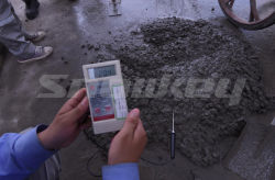Concrete outlet temperature test