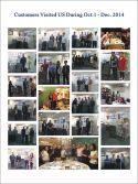 Customers visit us season IV 2014