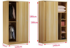 New Wooden Melamine Bedroom Wardrobe