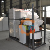 Another vertical wood granulator is ready for shipment