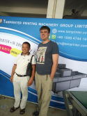 RUSSIA CUSTOMER VISIT TAMPRINTER FACTORY