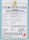CE Certificate of Machinery Directives