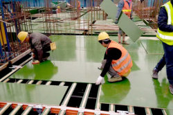 Green color PP plastic formwork