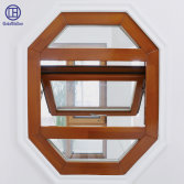 Solid wood awning window