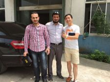 Customer come to our factory for visiting