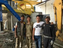 100 gangsaw machine is standing in the morocco Land