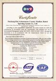 Jiamei Outdoor Fitness Equipment Certificate - ISO14001