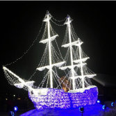led rope and string motif ship boat light for park BW-ZL-bship