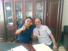 Mr. Robin Zhao with customer