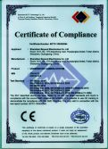 CE Certificate of Underwater Camera CR110-7L,7LS