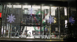 LED Snowflakes motif lights projects in Shenzhen