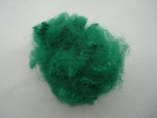Green color polyester fiber