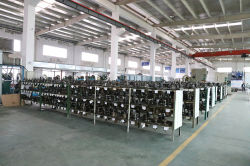 Mould-stocking line