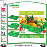 Plastic Foldable Crate for Vegetables and Fruits