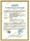 FCC certificate of SAW touch screen