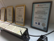 Show room and Certificates from OED