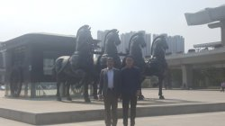 Meeting Pakistani clients in Jinan