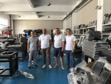 European customer visiting and training for UV Printer