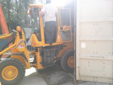 Packing Wheel Loader To Indonesia