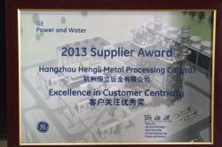 2013 Supplier Award