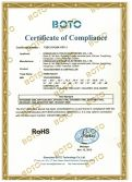 RoHS Certificate of SAW touch screen