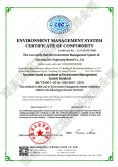 ENVIROMENT MANAGEMENT SYSTEM CERTIFICA of CONFORMITY