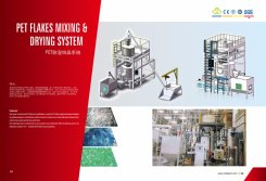 PET flakes mixing and drying system