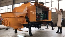 HBT50 Concrete Trailer Pump Delivery to Hungary