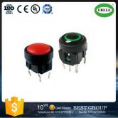FBTS1 8mm Round Tact Switch with LED Use for Smoke Lampblack Machine, Spst Tactile Switch