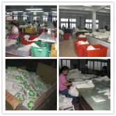 Cotton shopping bag production