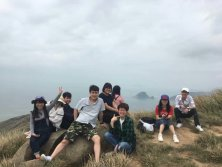 Summer excursion-at the top of the mountain