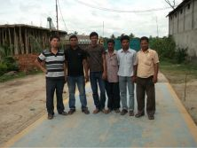 Engineer install 3x9m50ton truck scale in Bangladesh