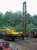 Truck crane in South East Asia