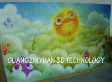 large 3D lenticular advertising