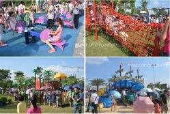 Guagngzhou children′s Park Outdoor Playground Equipment