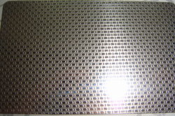 linen embossed stainless steel sheet