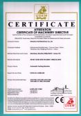 certificate of machinery directive