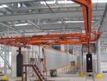 Storage racking painting line
