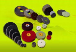Non-woven Wheels, Polishing Wheels, unitized wheels, nylon wheels, unitised wheels, Grinding Wheels,