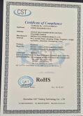 RoHS Certificate of Earphone