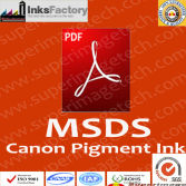 Canon Pigment Inks MSDS