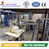 Automatic cement brick production line with all equipments