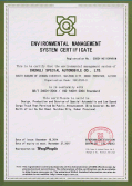 ISO 14001 Environment Certificate