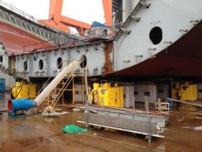 Hydraulic cylinder used in big ship manufacturing