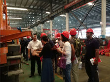 The Oman Customer Visited Yugong for Drilling Machine
