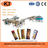 Automatic spaghetti weighing and packing machine with eight weighers
