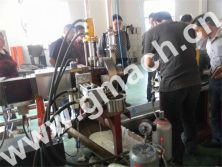 plate type hydraulic screen changer applied for plastic recycling granulator