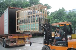 Shipment of water cooled chiller