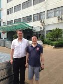 USA customer visit us for grating business
