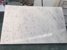 Carrara white No.1355 quartz stone slab